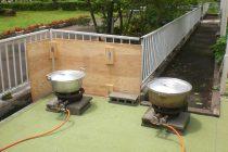 LPガスでお湯を沸かす
